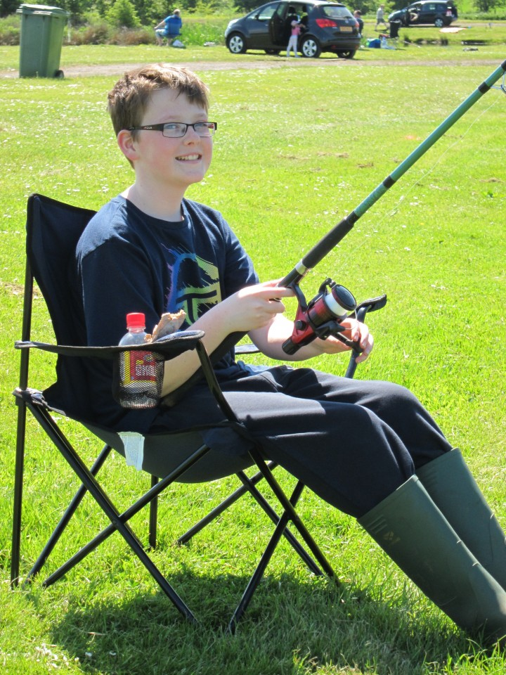 Jack – sitting comfortably and waiting for a bite